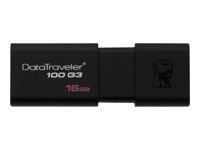 Kingston DataTraveler 100 G3 - USB flash-enhet - 16 GB - USB 3.0 - svart DT100G3/16GB